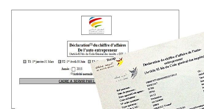 Auto Entrepreneur Marocain Comment Declarer Votre Chiffre D Affaires